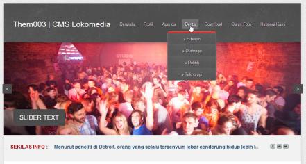 Template CMS Lokomedia