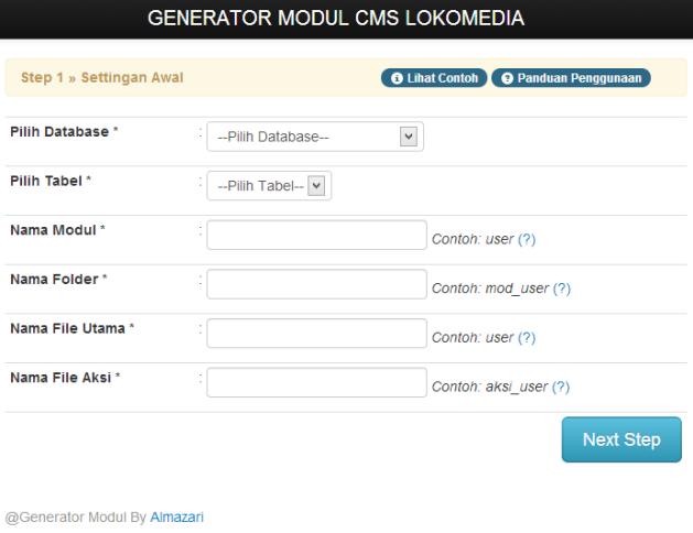 Generator Modul CMS Lokomedia
